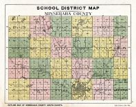 Minnehaha School District Map, Minnehaha County 1913